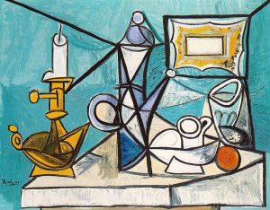 Stilleven met lamp - Pablo Picasso