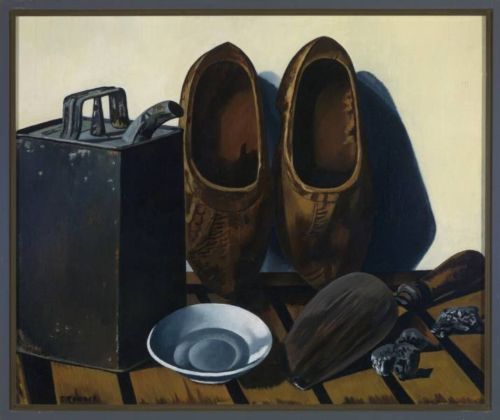 Charley Toorop - Stilleven met blik en klompen 1946 – 1949 Olieverf op doek