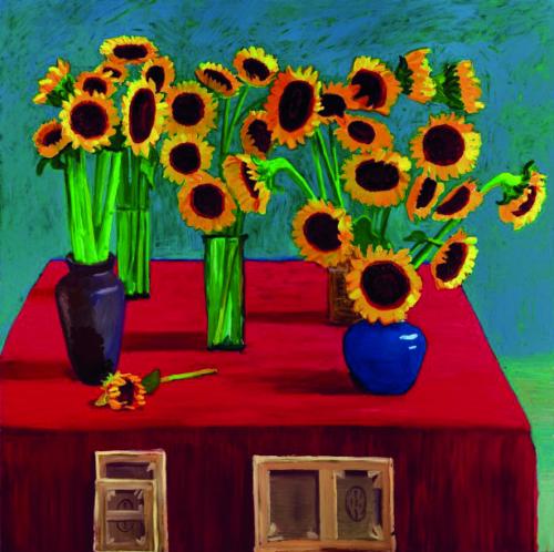 David Hockney - zonnebloemen 1996