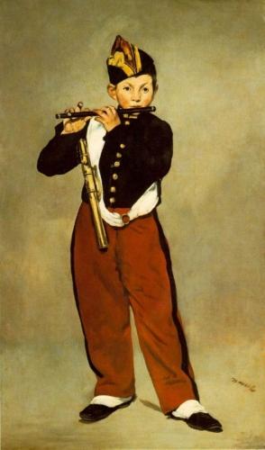 Edouard Manet, Le fifre 1866 Olieverf op doek