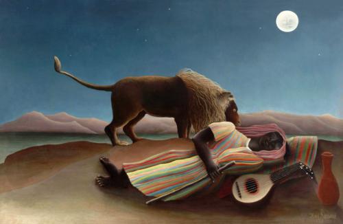 Henri Rousseau, The Sleeping Gypsy 1897 Olieverf op doek