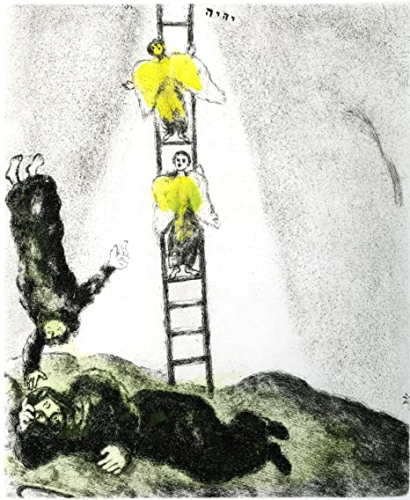 Marc Chagall, Jacobs ladder 1958 Ets
