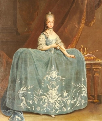 Martin van Meytens Maria Carolina of Austria 1760 Olieverf op paneel