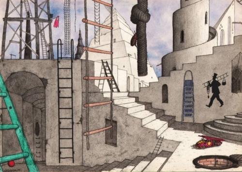 Mikhail Yashin, Ladders 1995 Tekening