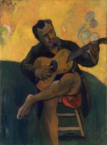 Paul Gauguin, The guitarist 1894 Olieverf op doek