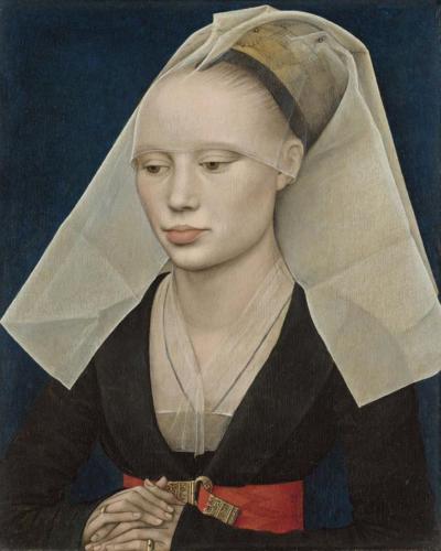 Rogier van der Weyden - Portret van een vrouw c. 1460 Olie op paneel