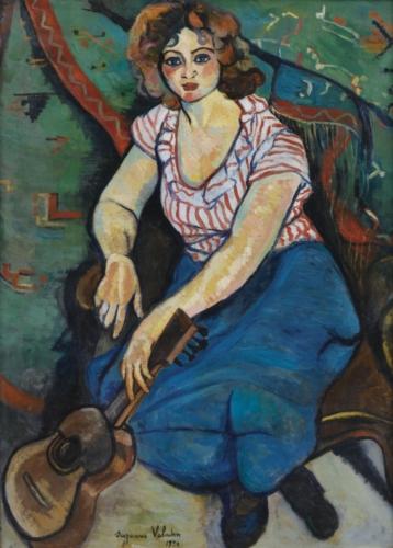 Suzanne Valadon, Femme à la guitare circa 1921 Olieverf op doek