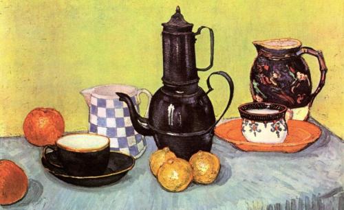 Vincent van Gogh - Stilleven met koffiepot 1888 Olieverf op doek