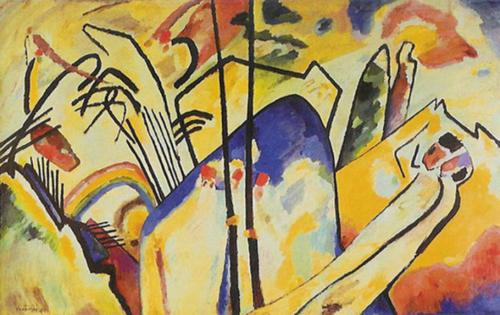 Wassily Kandinsky, Improvisation 1910 Aquarel