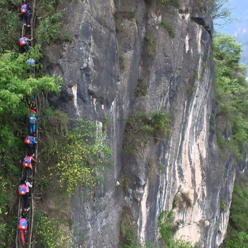 Lange ladder in China